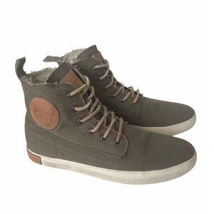 Blackstone FM30 canvas high top sneakers 8.5